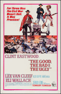 "The Good, the Bad and the Ugly (United Artists, 1968). One Sheet (27"" X 41.5""). Western"