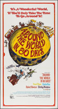 "Movie Posters:Adventure, Around the World in 80 Days (United Artists, R-1968). Three Sheet(41"" X 77""). Adventure.. ..."