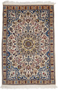 "Rugs & Textiles:Carpets, A Persian Wool Nain Rug. 4 feet 6 inches x 2 feet 11 inches.PROPERTY FROM THE ESTATE OF KENNETH S. ""BUD"" ADAMS JR.. ..."