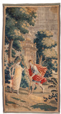 Rugs & Textiles:Tapestries, A Flemish Allegorical Tapestry Fragment, 18th century . 90-1/2inches high x 48 inches wide (229.9 x 121.9 cm). ...