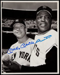 Autographs:Photos, Mickey Mantle and Willie Mays Signed Photograph....