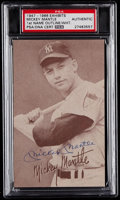 Autographs:Sports Cards, Signed 1947-1966 Exhibits Mickey Mantle PSA Authentic. ...