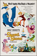 "Movie Posters:Animation, The Sword in the Stone (Buena Vista, 1963). Flat Folded One Sheet(27"" X 41"") Style A. Animation.. ..."