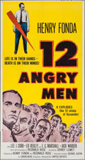 "Movie Posters:Drama, 12 Angry Men (United Artists, 1957). Three Sheet (41"" X 78""). Drama.. ..."