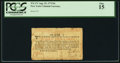 Colonial Notes:New York, New York August 25, 1774 (Water Works) 8s PCGS Fine 15.. ...