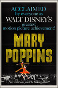 Movie Posters:Fantasy, Mary Poppins (Buena Vista, 1964). Flat Folded One ...