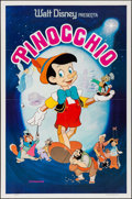 "Movie Posters:Animation, Pinocchio (Walt Disney Productions, R-1970s/R-1992). Spanish One Sheet (27"" X 41"") & One Sheet (27"" X 40""). Animation.. ... (Total: 2 Items)"