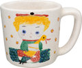 Animation Art:Production Drawing, Mary Blair Hand-Painted Coffee Mug (c. 1950s-60s). ...