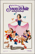 """Movie Posters:Animation, Snow White and the Seven Dwarfs (Buena Vista, R-1987). 50thAnniversary One Sheet (27"""" X 41"""") & Commercial Poster (28..."""