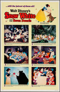 "Movie Posters:Animation, Snow White and the Seven Dwarfs (Buena Vista, R-1967). Flat FoldedOne Sheet (27"" X 41"") Style B. Animation.. ..."