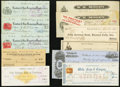 Obsoletes By State:Oregon, Oregon Checks 1868-1933 Eleven Examples.. ... (Total: 11 items)