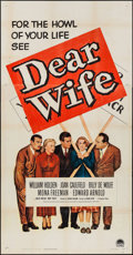 "Movie Posters:Comedy, Dear Wife (Paramount, 1950). Three Sheet (41"" X 79""). Comedy.. ..."