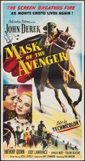 "Movie Posters:Adventure, Mask of the Avenger (Columbia, 1951). Three Sheet (41"" X 79"").Adventure.. ..."
