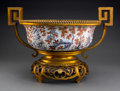 Asian:Chinese, An Imari Porcelain and Gilt Bronze-Mounted Bowl. 14-1/4 h x 20-3/4w x 16-1/4 d inches (36.2 x 52.7 x 41.3 cm). ...