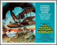 "The People That Time Forgot (American International, 1977). Half Sheet (22"" X 28""). Science Fiction"