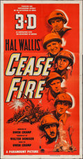 "Movie Posters:War, Cease Fire! (Paramount, 1953). Three Sheet (41"" X 79"") 3-D Style.War.. ..."
