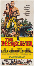 "Movie Posters:Western, The Deerslayer & Other Lot (20th Century Fox, 1957). ThreeSheet (41"" X 79"") & German Lobby Cards (12) (9.5"" X 12"").Western... (Total: 13 Items)"