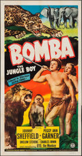 "Movie Posters:Adventure, Bomba, the Jungle Boy (Monogram, 1949). Three Sheet (41"" X 80"").Adventure.. ..."