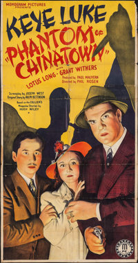 "Phantom of Chinatown (Monogram, 1940). Three Sheet (40.25"" X 77""). Crime"
