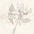 Animation Art:Production Drawing, Ben Buzzard World War II Insignia Art by Hank Porter (Walt Disney,c. 1940s). ...