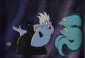 Animation Art:Production Cel, The Little Mermaid Ursula with Flotsam and Jetsam ProductionCel (Walt Disney, 1989). ...