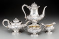 Silver Holloware, British:Holloware, A Four-Piece John, Henry & Charles Lias Silver Tea and CoffeeService with Acorn Motif, London, England, circa 1831