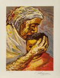 Fine Art - Work on Paper:Print, David Alfaro Siqueiros (Mexican, 1896-1974). Mother andChild, from The Mexican Suite, 1968. Lithograph incolors on...
