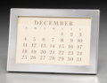 Silver Holloware, American:Desk Accessories, A Tiffany & Co. Silver Calendar Frame, New York City,post-1965. Marks: TIFFANY & CO, STERLING. 4-1/4 incheshigh x 6 in...