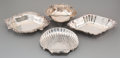 Silver Holloware, American:Bowls, Four Various Silver Bon Bon or Dessert Dishes, 20th century.Various makers including Reed & Barton, Gorham, etc..Marks... (Total: 4 Items)