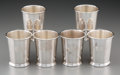 Silver Holloware, American:Cups, Six Silver Mint Julep Cups, mid-20th century. Marks: Preisner,STERLING, (various). 3-3/4 inches high (9.5 cm). 29.17 tr...(Total: 6 Items)
