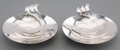 Silver Holloware, American:Bowls, Two Tiffany & Co. Mid-Century Silver Bon Bon Dishes, New YorkCity, circa 1943-1945. Marks: TIFFANY & CO., MAKERS,STERLIN... (Total: 2 Items)