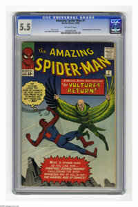 The Amazing Spider-Man #7 (Marvel, 1963) CGC FN- 5.5 Off-white pages. Second appearance of the Vulture. First monthly is...