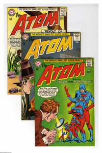 The Atom Group (DC, 1964-68) Condition: Average VF-. Group lot of seven issues features #11, 12, 14, 15, 16, 34, and 37...