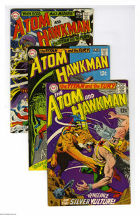 The Atom and Hawkman Group (DC, 1968-69) Condition: Average VF-. Five-issue group lot includes #39, 41, 42, 43 (first ap...