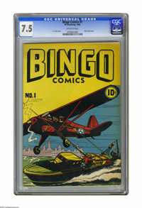 "Bingo Comics #1 (H. C. Blackerby, 1945) CGC VF- 7.5 Off-white pages. L. B. Cole ""opium"" front cover. Blank bac..."