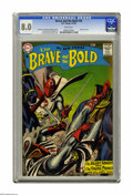 Silver Age (1956-1969):Adventure, The Brave and the Bold #18 (DC, 1958) CGC VF 8.0 White pages. Featuring the Silent Knight and Viking Prince. Grey tone cover...