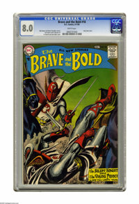 The Brave and the Bold #18 (DC, 1958) CGC VF 8.0 White pages. Featuring the Silent Knight and Viking Prince. Grey tone c...