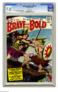 Silver Age (1956-1969):Adventure, The Brave and the Bold #19 (DC, 1958) CGC FN/VF 7.0 White pages. The Viking Prince and the Silent Knight appear. Irv Novick ...