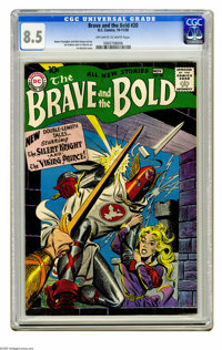 The Brave and the Bold #20 (DC, 1958) CGC VF+ 8.5 Off-white to white pages. The Silent Knight and the Viking Prince appe...