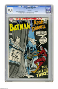 The Brave and the Bold #90 (DC, 1970) CGC NM 9.4 White pages. Adam Strange and Batman team-up. Neal Adams cover. Ross An...