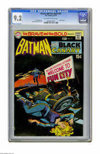 The Brave and the Bold #91 (DC, 1970) CGC NM- 9.2 Off-white to white pages. Batman and Black Canary team-up. Nick Cardy...