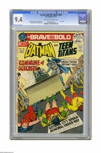The Brave and the Bold #102 (DC, 1972) CGC NM 9.4 Off-white to white pages. Batman and Teen Titans team-up. Nick Cardy c...