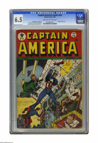 Captain America Comics #56 (Timely, 1946) CGC FN+ 6.5 Cream to off-white pages. Human Torch story with art by Carmine In...