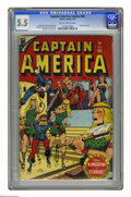 Golden Age (1938-1955):Superhero, Captain America Comics #62 (Timely, 1947) CGC FN- 5.5 Slightly brittle pages. Human Torch story wit art by Carmine Infantino...