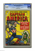 Golden Age (1938-1955):Superhero, Captain America Comics #78 (Timely, 1954) CGC VG 4.0 Cream to off-white pages. Final Golden Age issue. Human Torch story wit...