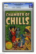 Golden Age (1938-1955):Horror, Chamber of Chills #21 (#1) (Harvey, 1951) CGC FN/VF 7.0 Cream tooff-white pages. First issue. Al Avison cover. Bob Powell, ...