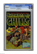 Golden Age (1938-1955):Horror, Chamber of Chills #13 File Copy (Harvey, 1952) CGC VF 8.0 Tan tooff-white pages. Al Avison cover. Howard Nostrand and Bob P...