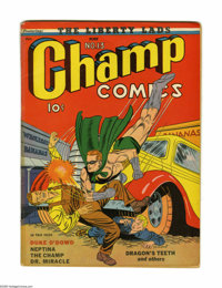Champ Comics #13 (Harvey, 1941) Condition: GD/VG. Starring the Human Meteor. Nice-looking copy with tape along spine. Ar...