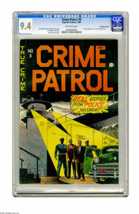 Crime Patrol (Canadian series) #8 (Superior Comics, 1949) CGC NM 9.4 Off-white pages. While this issue bears the number...