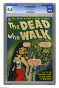 Golden Age (1938-1955):Horror, The Dead Who Walk #nn (Realistic Comics, 1952) CGC VG+ 4.5Off-white to white pages. Overstreet 2005 VG 4.0 value = $106.CG...
